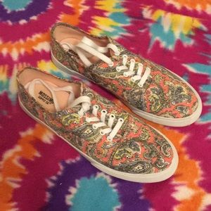 Mossimo Supply Co. Paisley Sneakers Sz 8